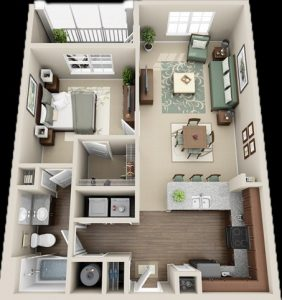 19 koleksi denah rumah 3d minimalis modern 2019 terbaru