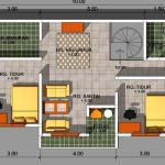 Gambar Denah Rumah Dengan 2 Kamar Tidur