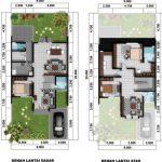 Gambar Denah Rumah Minimalis 2 Lantai Type 45