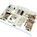 Gambar Denah Rumah Minimalis 3 Kamar Terbaru