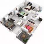 Gambar Denah Rumah Minimalis 3D
