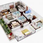 Gambar Denah Rumah Minimalis 3d Terbaru 2019