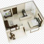 Gambar Denah Rumah Minimalis 3d Type 36