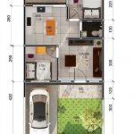 Gambar Denah Rumah Minimalis Lantai 1