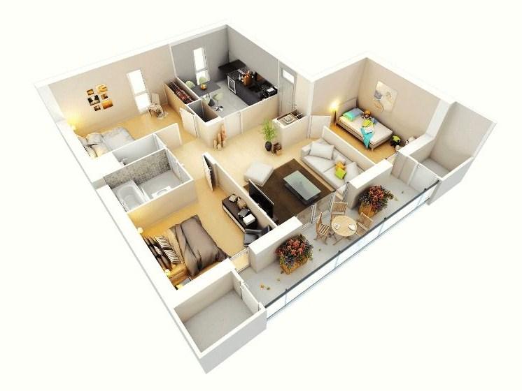 Gambar Denah Rumah Minimalis Modern 2019