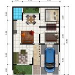 Gambar Denah Rumah Minimalis Modern Type 45