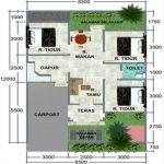 Gambar Denah Rumah Minimalis Type 45 Terbaru