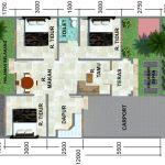 Gambar Denah Rumah Minimalis Type 60