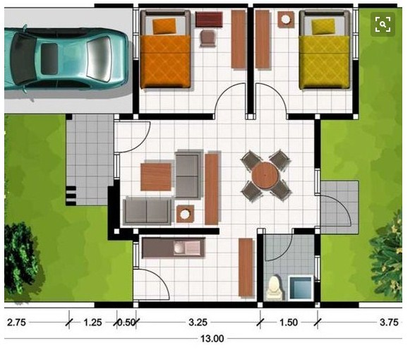 Gambar Denah Rumah Modern Minimalis