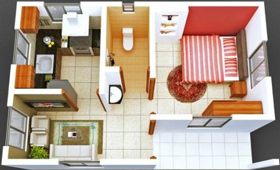 Gambar Denah Rumah Sederhana Minimalis Type 60