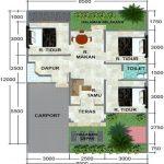 Gambar Denah Rumah Type 60 1 Lantai