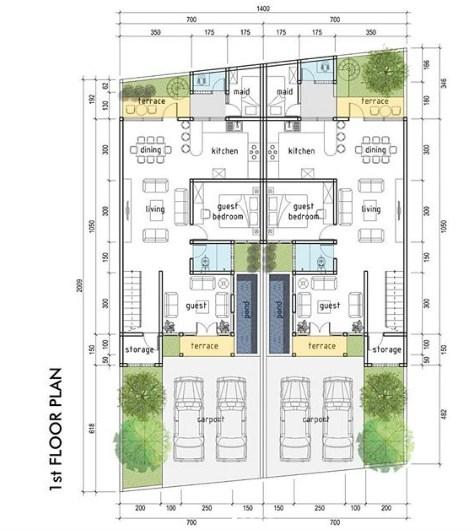 Model Denah Rumah Minimalis 3 Kamar
