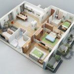 Rumah 2 Lantai Minimalis 3 Kamar Tidur