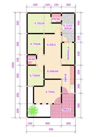 Rumah Minimalis 3 Kamar Tidur Satu Lantai