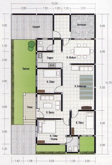 Rumah Minimalis Type 45 3 Kamar Tidur