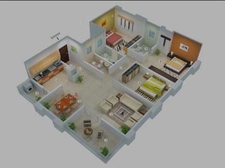 Rumah Minimalis Type 45 Kamar 3