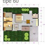 Sketsa Denah Rumah Minimalis Type 60