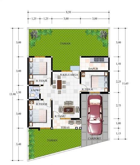 Sketsa Denah Rumah Type 60