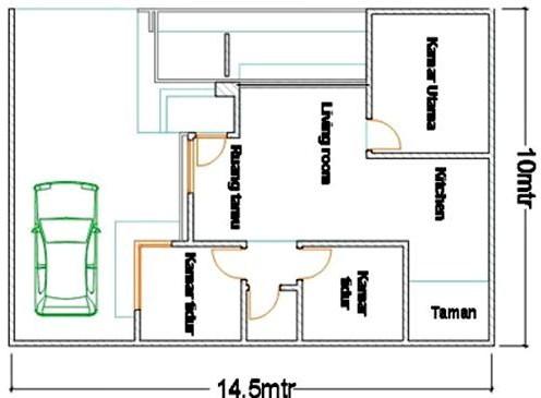 17 Gambar Sketsa Denah Rumah Sederhana Terlengkap 2019 Rumahpedia
