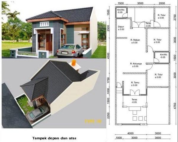 Sketsa Rumah Sederhana 1 Lantai