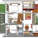 Sketsa Rumah Sederhana 2 Lantai