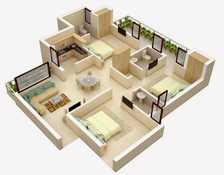 72+ Gambar Denah Rumah Cantik Sederhana Yang Bisa Anda Contoh