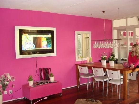Warna Cat Rumah Bagian Dalam Pink