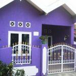 Warna Cat Rumah Bagian Luar Warna Ungu