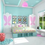Cat Dinding Kamar 2 Warna Biru Dan Pink