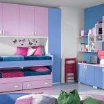Cat Dinding Kamar 2 Warna Pink Dan Biru