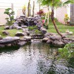 Contoh Taman Minimalis Dengan Kolam Ikan