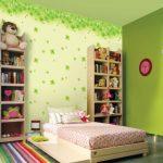 Dekorasi Cat Dinding Kamar 2 Warna