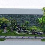 Desain Taman Minimalis Batu Alam