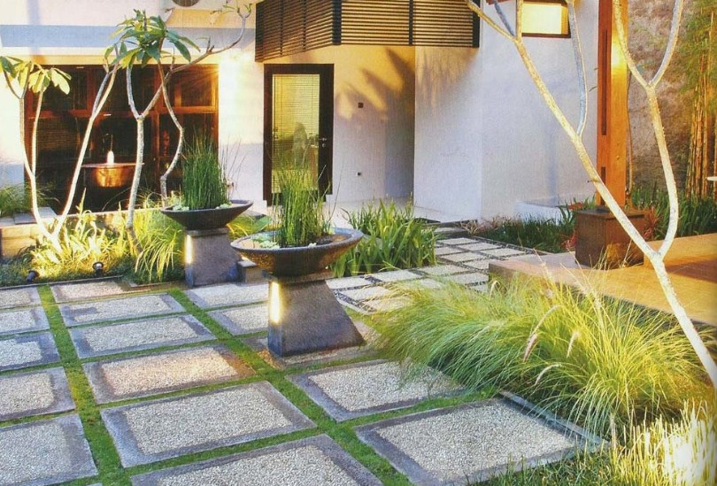 40 Desain Taman Minimalis Depan Rumah Modern