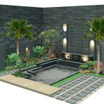 Desain Taman Rumah Minimalis Batu Alam
