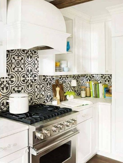 Keramik Dinding Dapur Hitam Putih