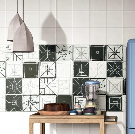 Keramik Dinding Dapur Motif Kotak