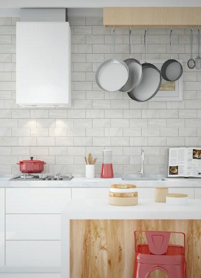 Keramik Dinding Dapur Putih