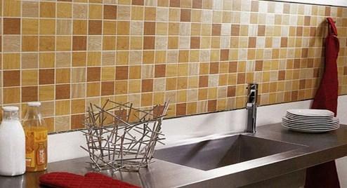 Keramik Dinding Dapur Warna Coklat