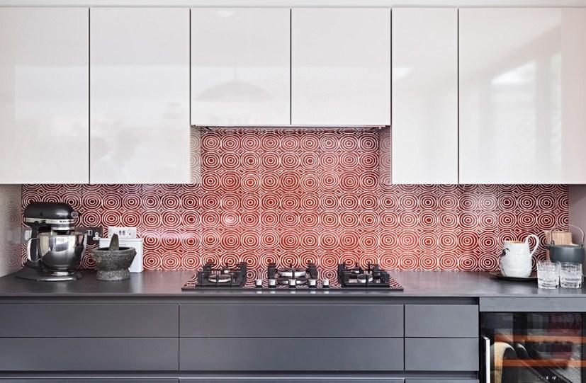 Keramik Dinding Dapur Warna Pink