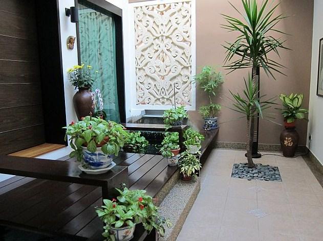 Taman Bunga Minimalis Dalam Rumah