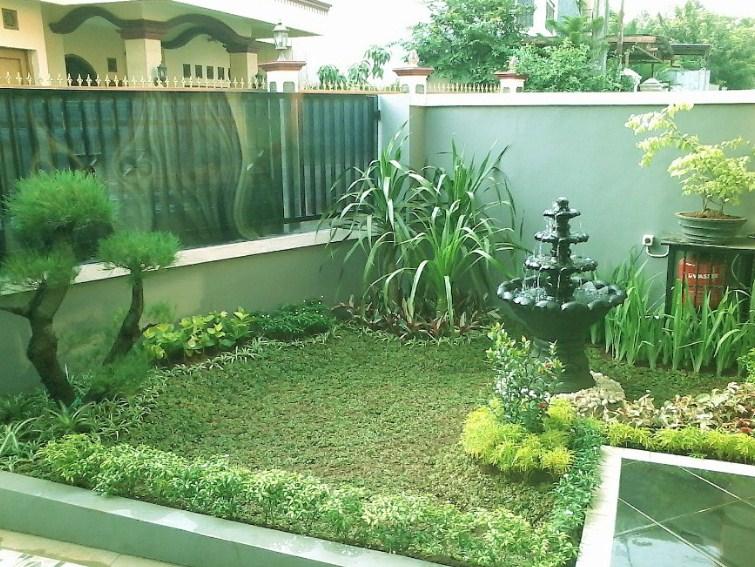 Taman Depan Rumah Minimalis Air Mancur