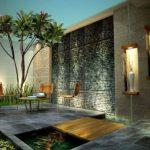 Taman Kolam Minimalis Belakang Rumah