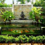 Taman Minimalis Depan Rumah Dengan Kolam Ikan