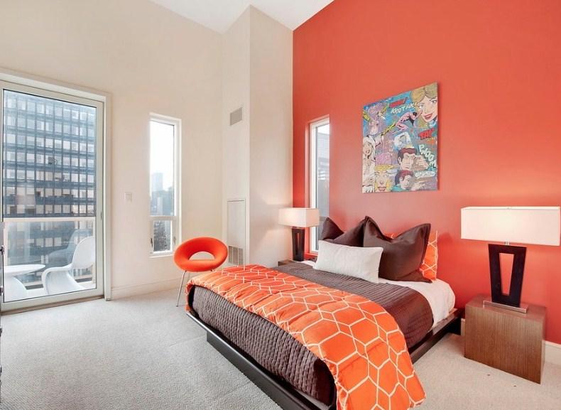 Warna Cat Orange Untuk Kamar Tidur
