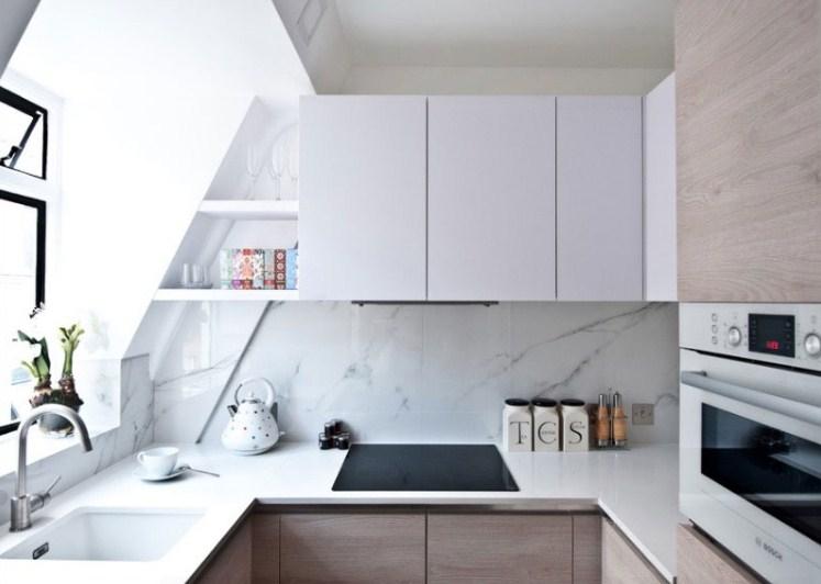 Desain Dapur Kecil Minimalis Warna Putih