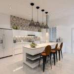 Desain Kabinet Dapur Glossy