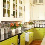 Desain Kabinet Dapur Hijau Putih