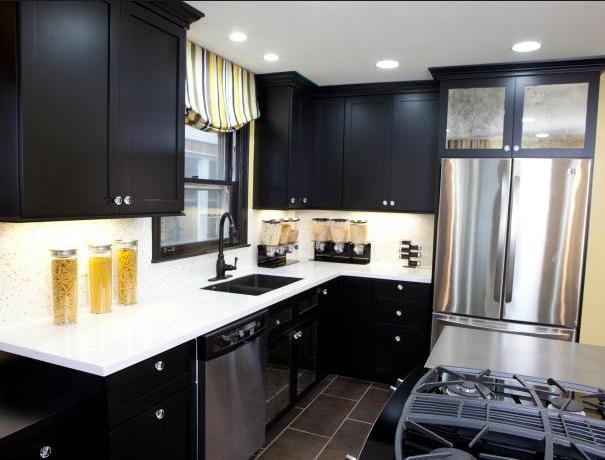 Desain Kabinet Dapur Hitam