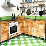 Kabinet Dapur Kayu Buatan Sendiri
